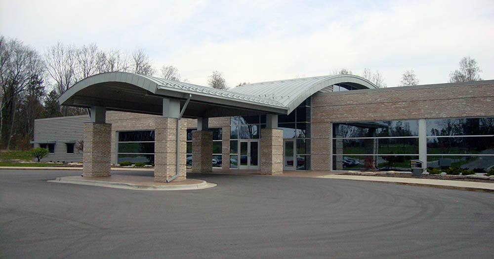 Resurrection life church cadillac front entrance for Architects in grand rapids mi